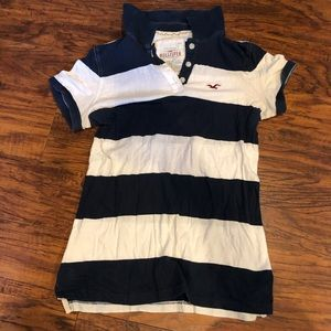 Holister rugby striped polo shirt